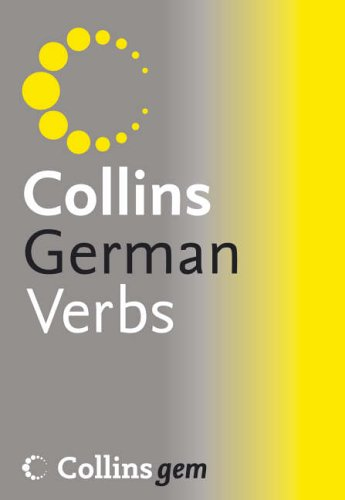9780007213191: Collins Gem - German Verb Tables