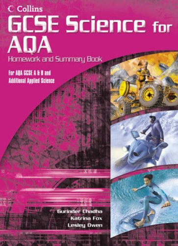 9780007216345: GCSE Science for AQA - Science Summary and Homework Book (Additional Applied)