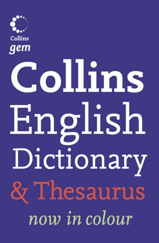 9780007224364: Collins Gem ? Dictionary and Thesaurus