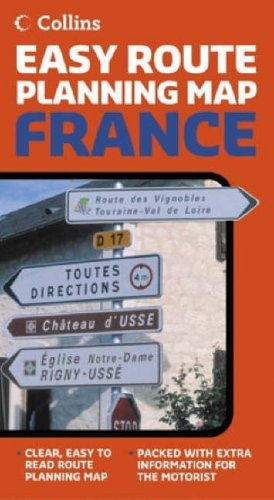 9780007225224: Collins Easy Route Planning Map France (International Maps)