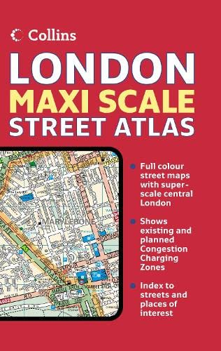 9780007227464: London Maxi Scale Street Atlas (Collins Travel Guides)