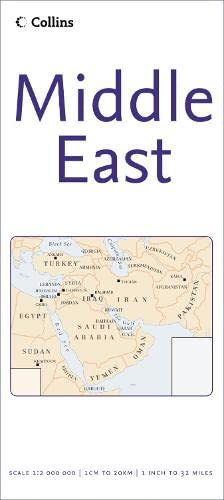 9780007233113: Middle East Map by Collins (Reference Map)