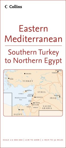 9780007233120: Eastern Mediterranean: Southern Turkey to Northern Egypt (Reference Map)