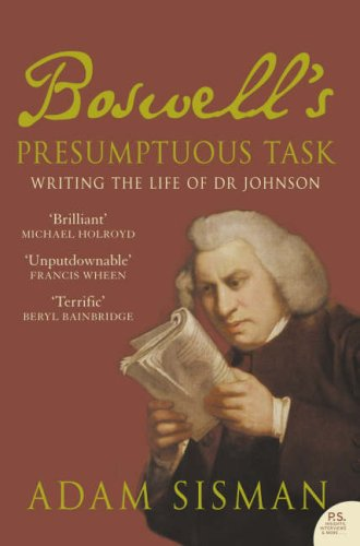 9780007234295: Boswell's Presumptuous Task : Writing the Life of Dr Johnson