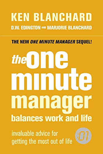 9780007240210: The One Minute Manager Balances Work and Life