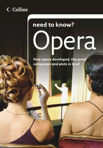 9780007241453: Opera (Collins Need to Know?)