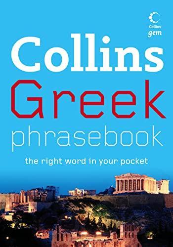 9780007246700: Greek Phrasebook (Collins Gem)