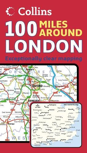 9780007247561: 100 Miles Around London (Map)