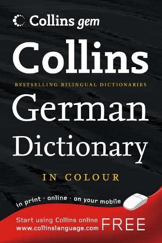 9780007252817: Collins Gem German Dictionary (Collins Gem)