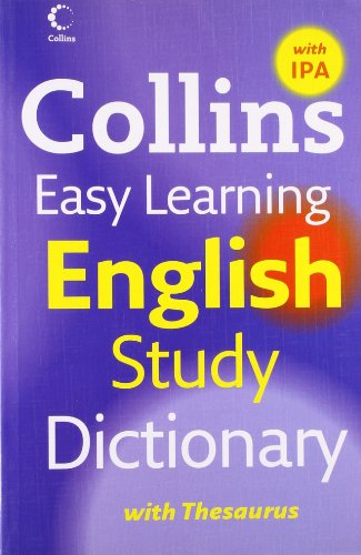 9780007261253: Easy Learning English Study Dictionary with IPA (Collins Easy Learning English)