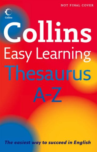 9780007261260: Collins Easy Learning Thesaurus