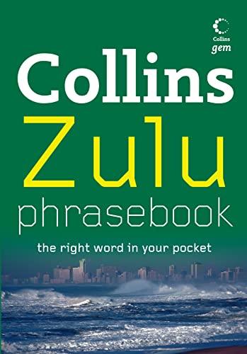 9780007266869: Collins Gem - Zulu Phrasebook