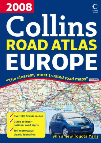 9780007267842: 2008 Collins Road Atlas Europe 2008 (International Road Atlases)