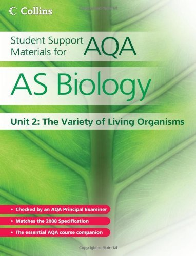 9780007268184: Student Support Materials for AQA: AS Biology, Unit 2: The Variety of Living Organisms