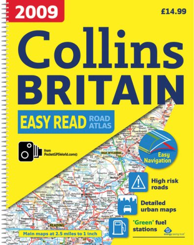 9780007272389: 2009 Collins Easy Read Road Atlas Britain (Collins Road Atlas)
