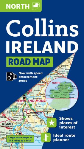 9780007273874: Collins Ireland Road Map: North (International Road Atlases)