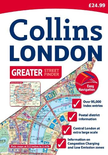 9780007274369: Collins London Greater Street Finder: A4 Edition (Collins Travel Guides)