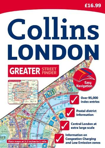 9780007274376: Collins London Greater Street Finder (Collins Travel Guides)