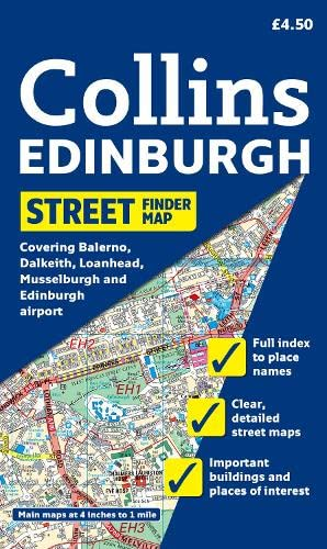 9780007274406: Edinburgh Streetfinder Map