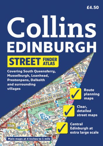 9780007274413: Collins Edinburgh Street Finder Atlas: A5 Edition (Collins Travel Guides)