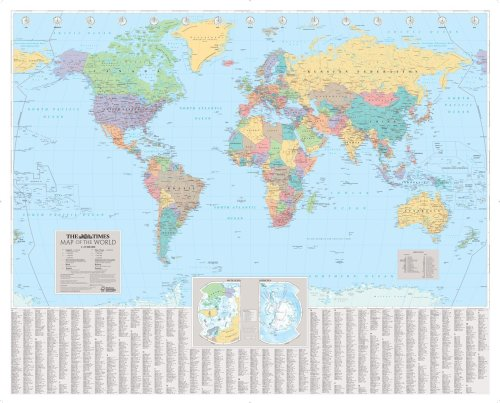 9780007275823: The Times World Wall Laminated Map (Wall Map)
