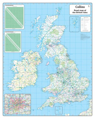 9780007276349: British Isles Road Wall Map