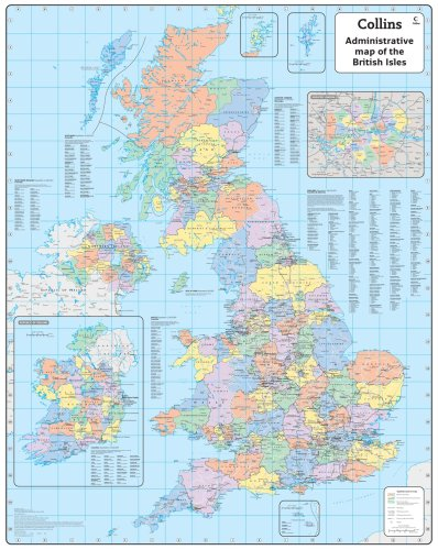9780007276363: British Isles Administrative Wall Map: Laminated