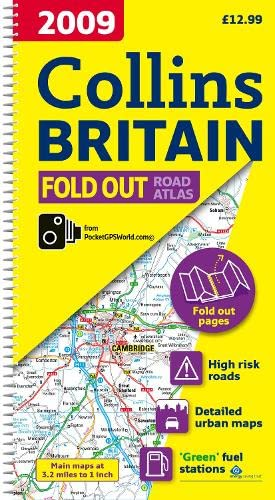 9780007277971: 2009 Collins Fold Out Atlas Britain (Road Atlas)