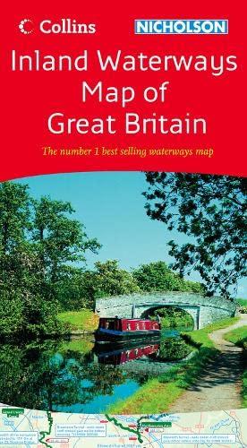 9780007280643: Collins/Nicholson Inland Waterways Map of Great Britain (Waterways Guides)