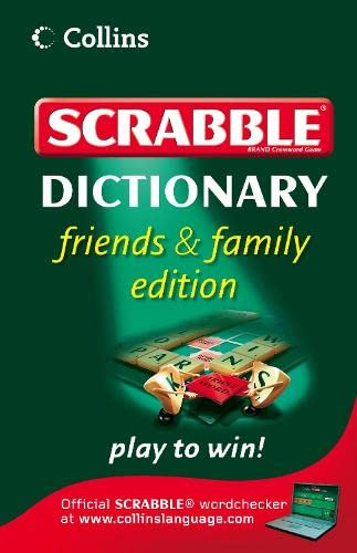 9780007280834: Collins Scrabble Dictionary: Friends and Family Edition