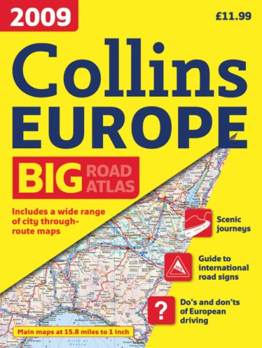 9780007282791: International Road Atlases - 2009 Collins Road Atlas Europe