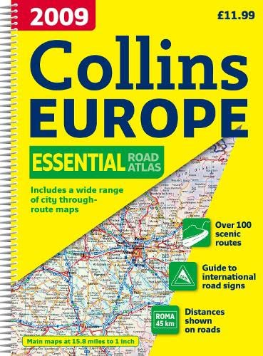 9780007282807: 2009 Collins Road Atlas Europe: A4 Edition (International Road Atlases)