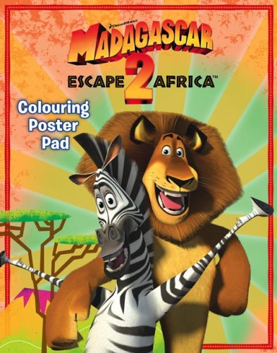 9780007284405: Madagascar: Escape 2 Africa - Colouring Poster Pad