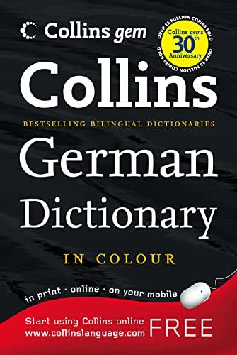 9780007284481: Collins Gem German Dictionary (Collins Gem)