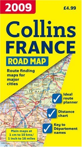 9780007285075: International Road Map - 2009 Map of France