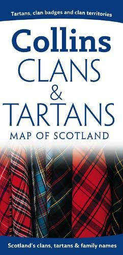 9780007289509: Clans and Tartans Map of Scotland (Collins Pictorial Maps)