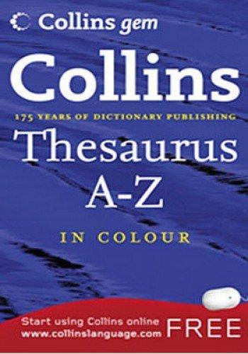 9780007290352: Thesaurus A-Z (Collins Gem)