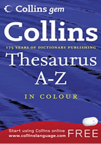 9780007290352: Thesaurus A-Z (Collins Gem)