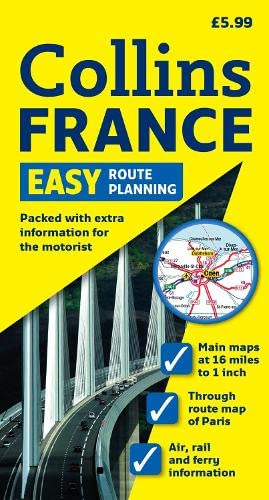 9780007293209: Easy Route Planning Map France