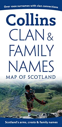 9780007300280: Clan and Family Names Map of Scotland (Collins Pictorial Maps)