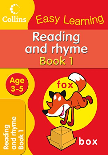 9780007300884: Reading and Rhyme: Age 3-5 (Collins Easy Learning Age 3-5)