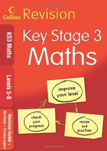 9780007302420: KS3 Maths L5-8: Revision Guide + Workbook + Practice Papers (Collins KS3 Revision)