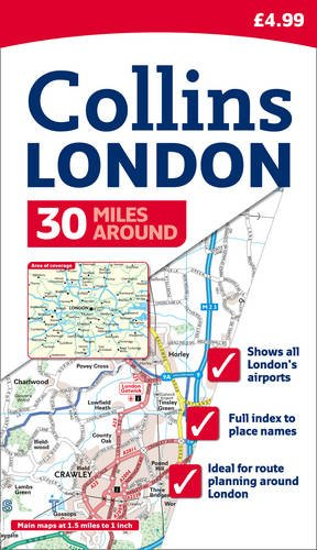9780007308774: 30 Miles Around London (Map)