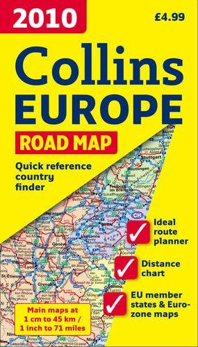 9780007317912: International Road Map - 2010 Map of Europe