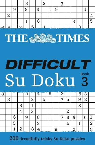 9780007319701: The Times Difficult Su Doku Book 3