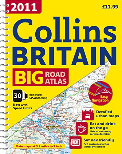 9780007320547: 2011 Collins Big Road Atlas Britain (Collins Britain Big Road Atlas (Spiral))