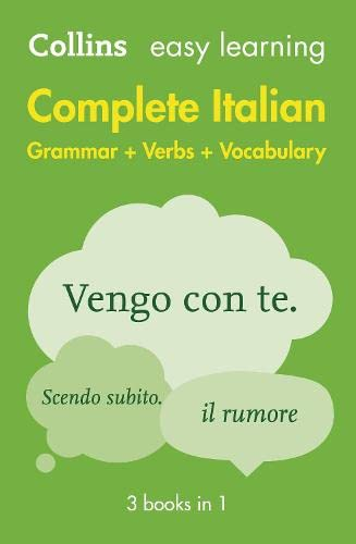 9780007324958: Easy Learning Complete Italian Grammar, Verbs and Vocabulary (3 books in 1) (Collins Easy Learning Italian)