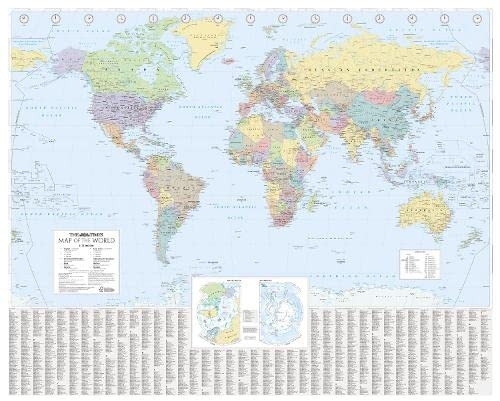 9780007326891: The Times World Wall Laminated Map