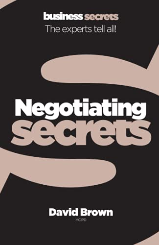 9780007328079: Negotiating (Collins Business Secrets)