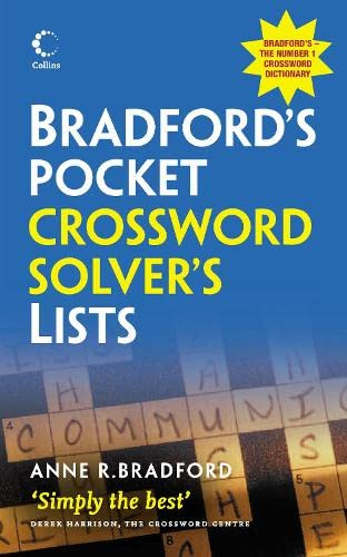9780007333646: Collins Bradford's Pocket Crossword Solver's List (Dictionary)